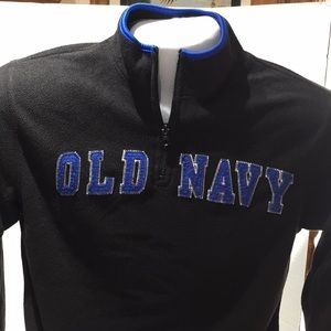 Old navy pullover half zip black with blue